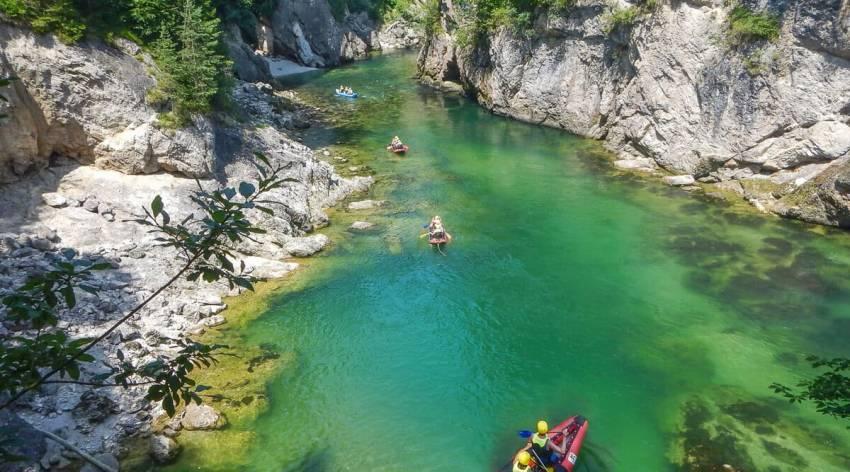 Flussexpedition auf der Steyr
